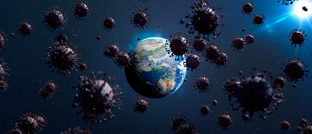 Air Attack「Coronavirus Attacks the World 3D Render」:スマホ壁紙(17)