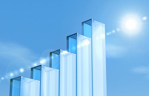 Acrylic Glass「glass pillars forming a bar chart」:スマホ壁紙(4)