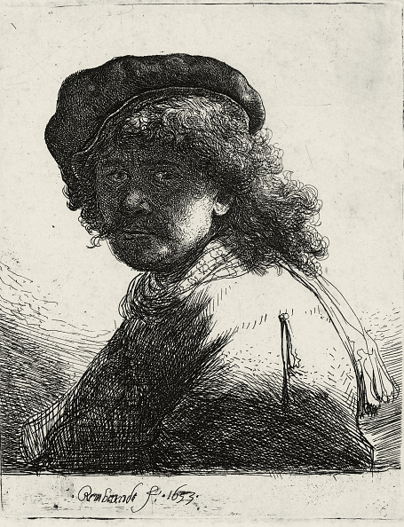 Beret「Self-Portrait in a Cap and Scarf with the Face Dark, 1633」:写真・画像(17)[壁紙.com]