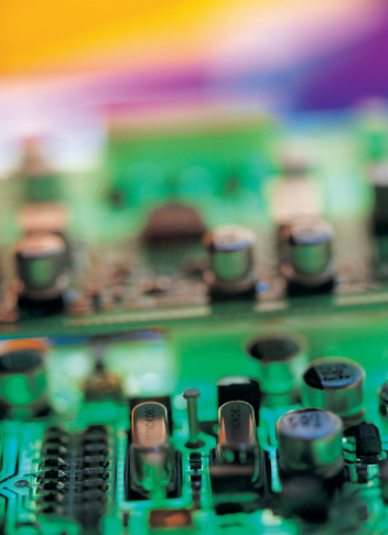 Mother Board「Transistors on a colorfully variegated circuit board」:スマホ壁紙(16)