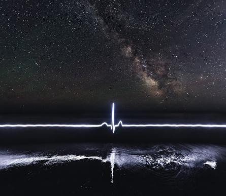 star sky「遠方信号機」:スマホ壁紙(11)