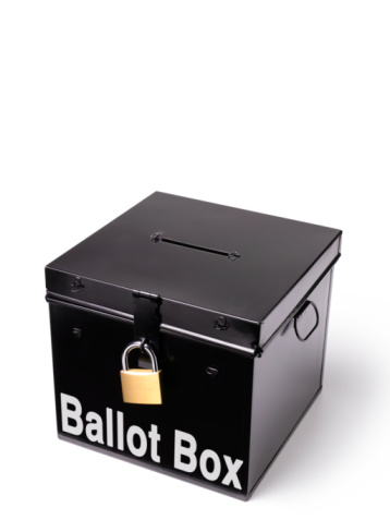Election「ballot box with padlock」:スマホ壁紙(11)