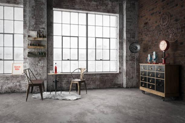 Cozy Industrial Style Interior:スマホ壁紙(壁紙.com)
