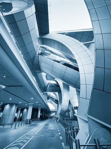 交通量「モダンな空港の建築」:スマホ壁紙(8)