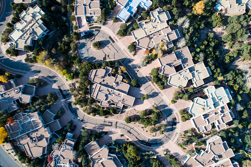 Freedom「A bird's-eye view from the sky above the residential area in the USA.」:スマホ壁紙(17)