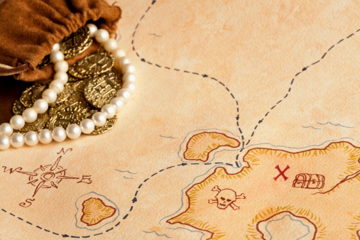 X Marks The Spot「Pirate Treasure Map. Selective Focus, Full Frame.」:スマホ壁紙(12)