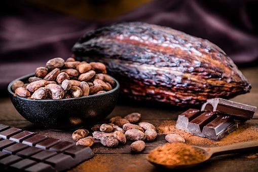Cocoa「Chocolate bar, cocoa powder, cocoa beans and cocoa pod」:スマホ壁紙(12)