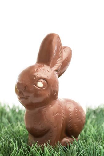 Milk Chocolate「Chocolate bunny rabbit sitting on grass」:スマホ壁紙(13)