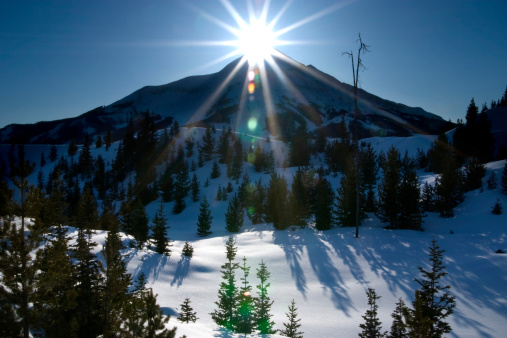 Praying「Mountain peak and sun.」:スマホ壁紙(11)
