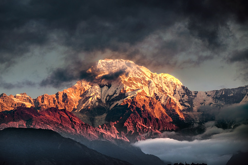 Annapurna Conservation Area「Mountain peak in Nepal Himalaya」:スマホ壁紙(4)