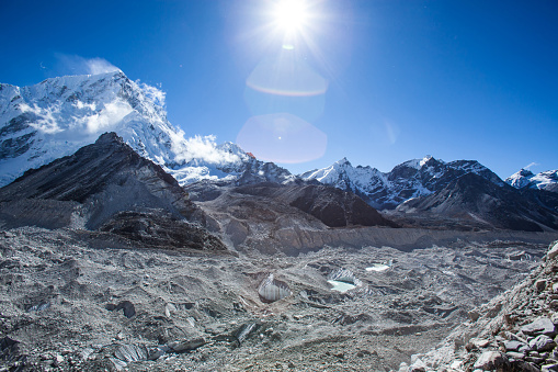 Khumbu Glacier「Mountain peak, Everest base camp trek, Sagarmatha National Park, UNESCO World Heritage Site, Solu-Khumbu district, Khumbu region, Eastern Nepal, Asia」:スマホ壁紙(12)