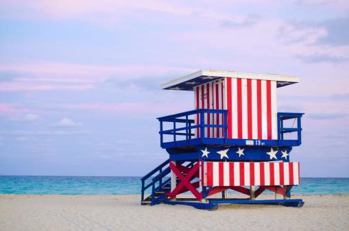Miami Beach「13 th Street の監視員の小屋マイアミビーチ(フロリダ州)」:スマホ壁紙(14)