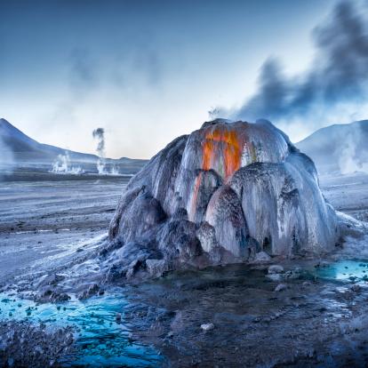 温泉「Tatio Geysers at sunrise, Atacama Desert」:スマホ壁紙(17)