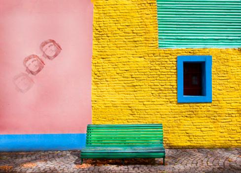 Buenos Aires「Colourful wall, Boca district, Buenos Aires」:スマホ壁紙(3)
