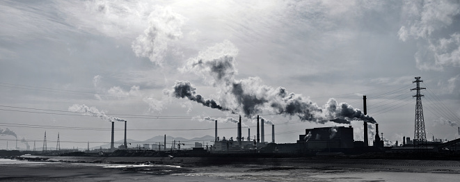 Electricity Pylon「Smoke from the power station」:スマホ壁紙(2)