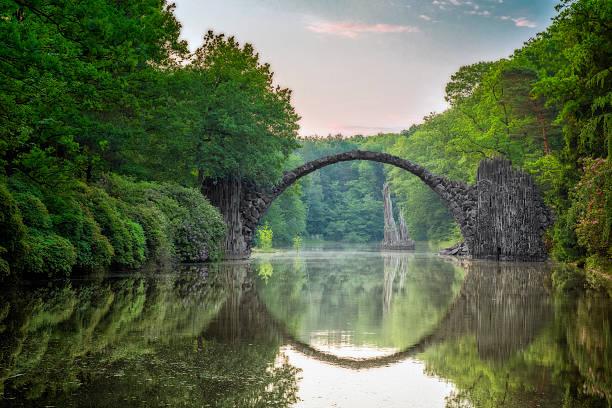 Arch Bridge (Rakotzbrucke) in Kromlau:スマホ壁紙(壁紙.com)