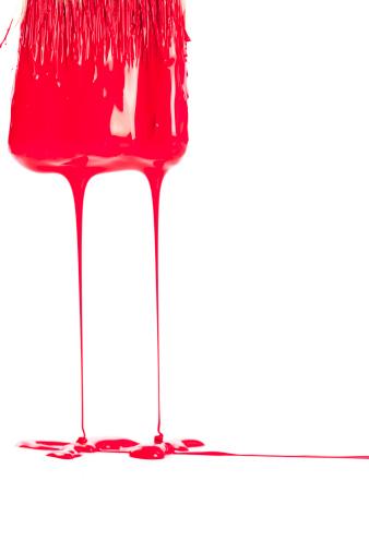 Animal Hair「Brush Dripping Red Paint」:スマホ壁紙(1)