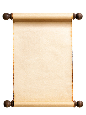 Parchment「Blank Scroll Isolated on White.」:スマホ壁紙(17)