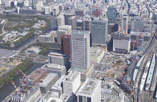 Marunouchi「Tokyo Station and Marunouchi Building Area, Aerial View, Pan Focus」:スマホ壁紙(18)