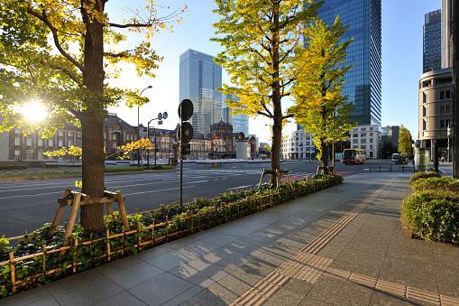 東京都中央区「Tokyo station and Marunouchi at dawn」:スマホ壁紙(2)
