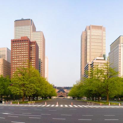 Marunouchi「Tokyo station and skyscrapers」:スマホ壁紙(5)
