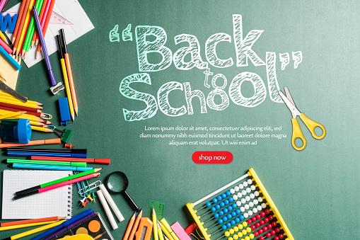 Chalk - Art Equipment「Back to school concept」:スマホ壁紙(8)