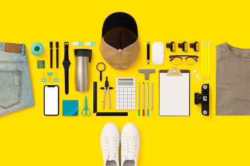 Photography Themes「Back to school flat lay」:スマホ壁紙(11)