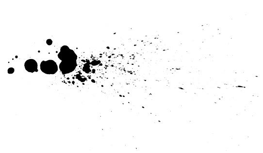 Drop「Black ink drops.」:スマホ壁紙(15)