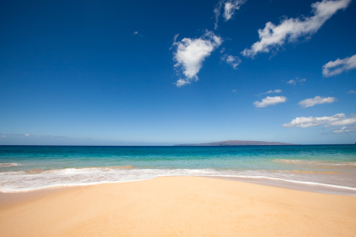 Hawaii Islands「beach, ocean and clounds on tropical island.」:スマホ壁紙(6)