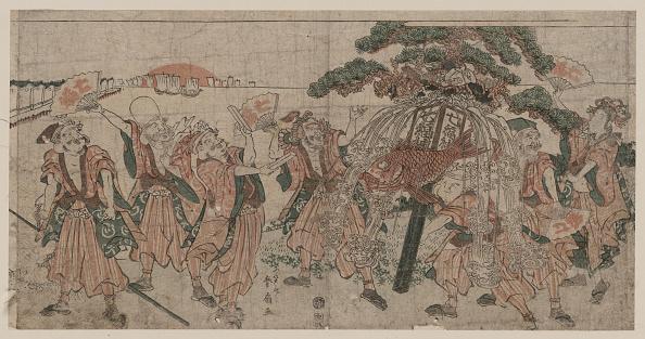 日本文化「Seven Lucky Gods, 1810s」:写真・画像(19)[壁紙.com]
