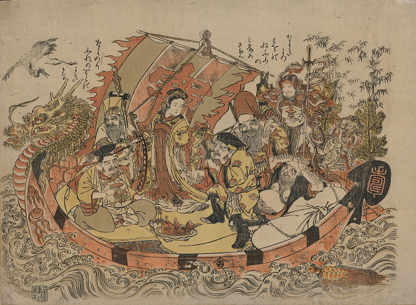 日本文化「Seven Lucky Gods, Between 1775 and 1780」:写真・画像(7)[壁紙.com]