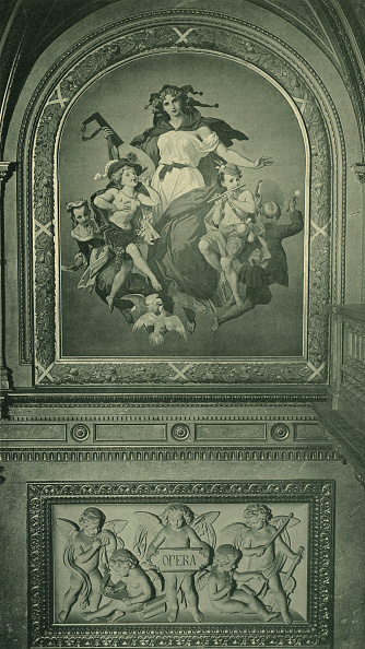 Musical instrument「Fresco from Grand Opera House in Vienna on theme of Opera」:写真・画像(7)[壁紙.com]