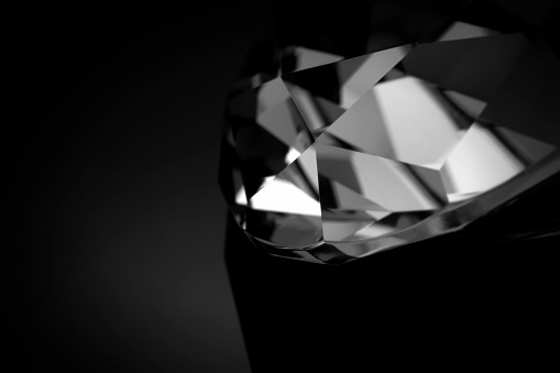 Extreme Close-Up「B&W diamond macro」:スマホ壁紙(11)