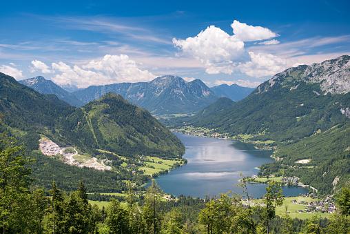 Salzkammergut「Lake Grundlsee, Austria - Summer Panorama」:スマホ壁紙(4)