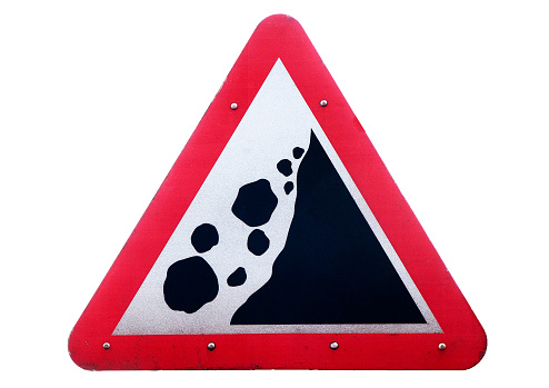 Isle of Man「Roadside traffic warning sighn 'Land Slide'」:スマホ壁紙(13)