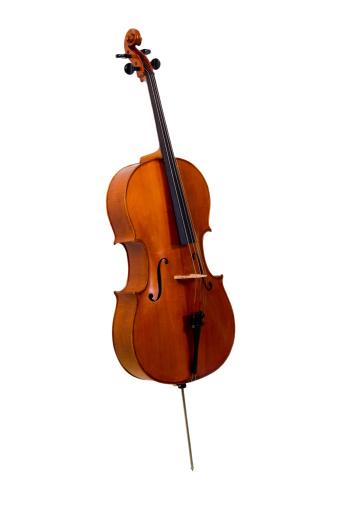 Cello「Old cello on white background」:スマホ壁紙(16)