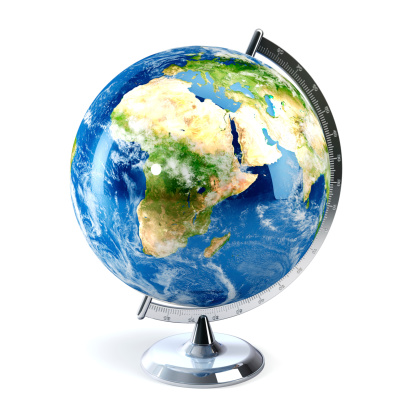 Planet Earth「Desktop globe showing Europe, Africa and the Middle East」:スマホ壁紙(13)