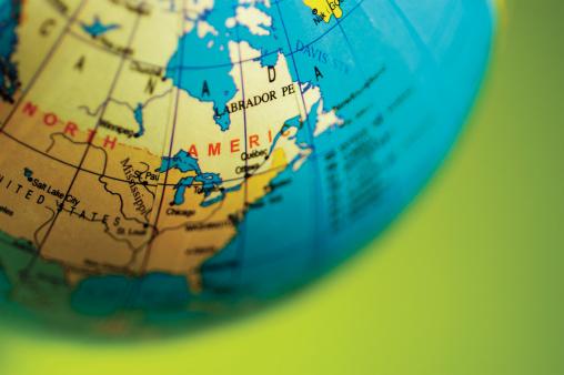 Latitude「Desktop globe turned to North America, part of」:スマホ壁紙(14)