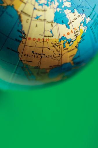 Latitude「Desktop globe turned to North America, part of」:スマホ壁紙(13)