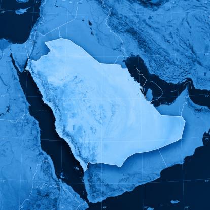 Latitude「Saudi Arabia Topographic Map」:スマホ壁紙(6)