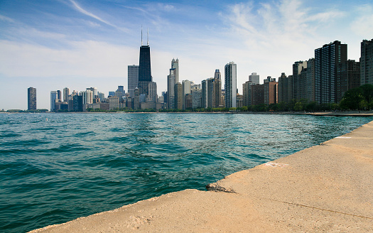 Great Lakes「City skyline, Chicago, Illinois, America, USA」:スマホ壁紙(10)