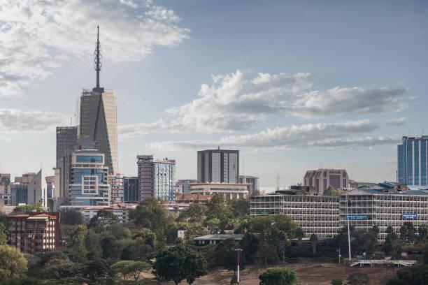 City skyline in Nairobi, Kenya:スマホ壁紙(壁紙.com)