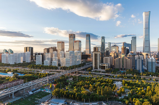 Beijing「City skyline Panoramic」:スマホ壁紙(12)