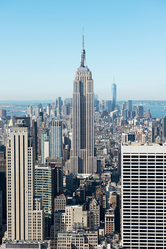 Empire State Building「City skyline, Manhattan, New York, America, USA」:スマホ壁紙(15)