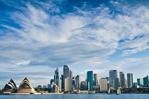 オーストラリア「City skyline and Opera house, Sydney, Australia」:スマホ壁紙(8)