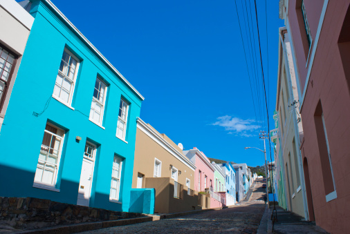 Malay Quarter「Houses in Bo Kaap, Cape Town.」:スマホ壁紙(4)