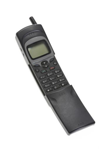 1990~1999年「ヴィンテージの携帯電話に白背景」:スマホ壁紙(13)