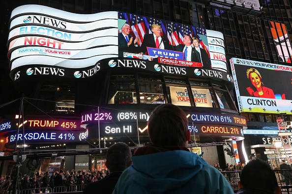 Presidential Election「Crowds Gather In New York To Watch Election Results From Across The Country」:写真・画像(18)[壁紙.com]