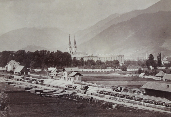 Benedictine「Admont: General View With The Train Station And Benedictine Monastery. About 1875. Photograph.」:写真・画像(3)[壁紙.com]