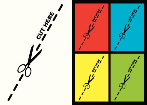 Vector「cut along the dotted line logo with color variation」:スマホ壁紙(14)